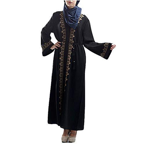 ZHJA Strickjacke-Roben Der Europäischen Und Amerikanischen Neuen Frauen Gesticktes Heißes Goldkleid -