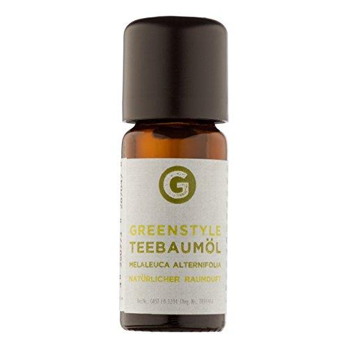 Teebaumöl (10ml) - 100{db73f8e73391c6abb5f20472cbe2dce6ea5beaa4ec47f92b7a403c5c789e3577} naturreines, ätherisches Öl von greenstyle