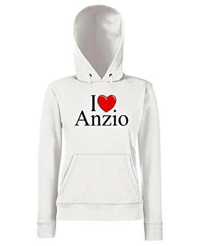 T-Shirtshock - Sweats a capuche Femme TLOVE0028 i love heart anzio Blanc