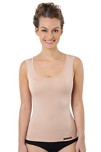 Bambus Damen-rock (ALBERT KREUZ Business Damenunterhemd unsichtbar aus Micromodal Light atmungsaktiv ohne Arm extra-tiefer Rundausschnittt Hautfarbe Nude, Gr. 36)