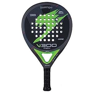Slazenger Max Tennis Bat - Black/Grey/Green, 38 mm
