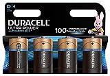 Duracell Ultra Power D Batterie Alcaline, Confezione da 4