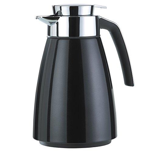 Emsa 513810 Isolierkanne (Edelstahl 1 Liter, Aroma Diamond, Quick Tipp Verschluss, Bell) schwarz (Karaffe Kaffeekanne)