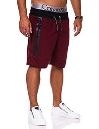 MT Styles Sweat-Short avec Zipper homme C-972