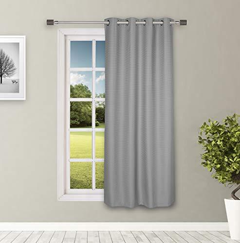 Amazon Brand - Solimo Riviera Door Curtain, 7 feet - Set of 1 (Steel Grey)