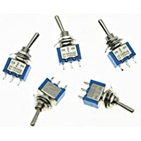 kaish Chitarra SPDT 5x Mini Toggle Switch 3Posizione ON/OFF/ON 3Pin