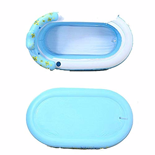 Aufblasbare Badewanne Haarverdichtung aufblasbare Badewanne Wasser sparen Sie falten können doppelt Drainage Bad Barrel (Pumpe)