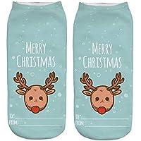 Zolimx 3D Print Socken Damensocken Weihnachtensocken Frauen Cute Christmas Erstaunliche Neuheit Söckchen Baumwollesocken