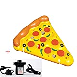 GYFY Pizza Galleggiante Fila Monte Adulto Nuoto Anello Forniture Acqua salvagente Letto Galleggiante (Inviare Pompa dell'Aria Auto)