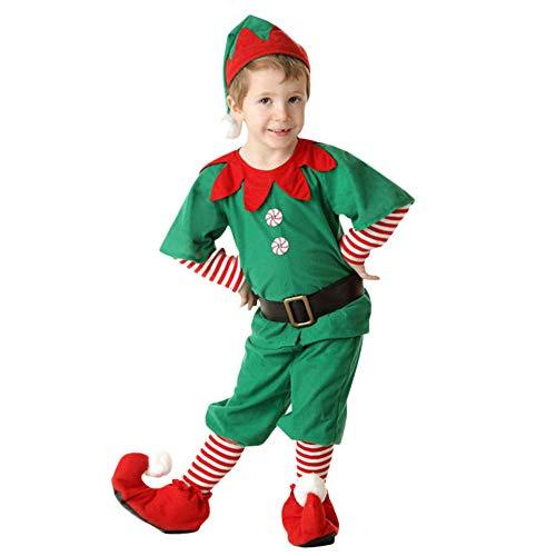 cd01b2ade11c9 LMMVP Bébé LianMengMVP Costumes de Noël Costume de Lutin de Noël Enfant  Cosplay Vêtement Déguisement Parent