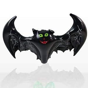 Shatchi HYPER-INFLATABLEBAT-5PK Bate Inflable para decoración de Halloween, Accesorios para Colgar de Fiesta, Espeluznante, Negro
