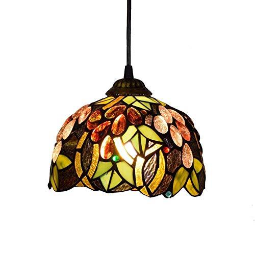 miaomiao Stil Pendelleuchte 8 Zoll Vintage Glasmalerei Decke Leuchte Hängelampe Für Schlafzimmer Büro Restaurant Café -