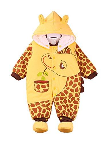 Minetom Baby Sommer Hose Jungen Mädchen Sweathose Jogginghose Bär Lange Hip-Hop Harem Hosen, Khaki Giraffe 90