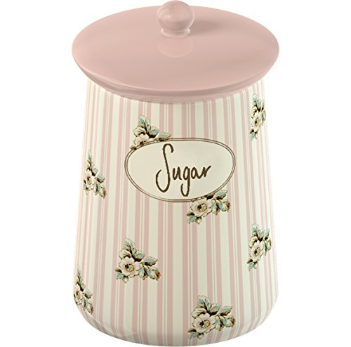 KATIE ALICE Cottage Flower SUGAR CANISTER Shabby Chic STORAGE JAR