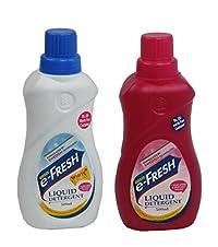 Gosis e-fresh Liquid Detergent(White Plus and Bucket wash, 500 ml), Pack of 2
