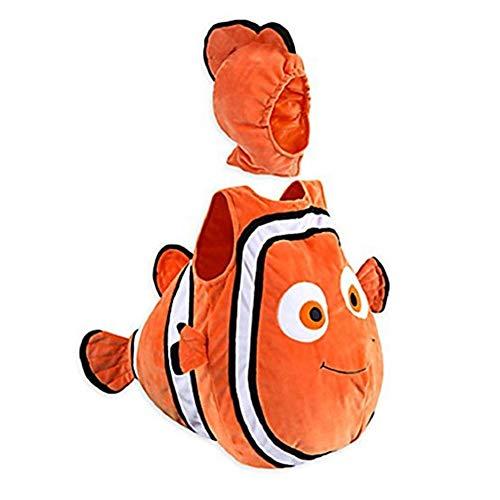Deanyi Fisch Clown-Kostüm Kind Baby-Nette Karikatur-Fisch-Clown Animated Baby-Halloween Weihnachten Kostüm für Kinder ohne Batterie 90cm