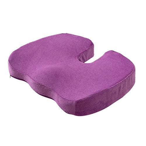 Colorful | Orthopädisches Sitzkissen | Gel-Enhanced rutschfest Sitzkissen | Lindert Rückenschmerzen | Ergonomisches Sitzkissen mit Gel für Bürostuhl (Lila) - Lila Sitzkissen