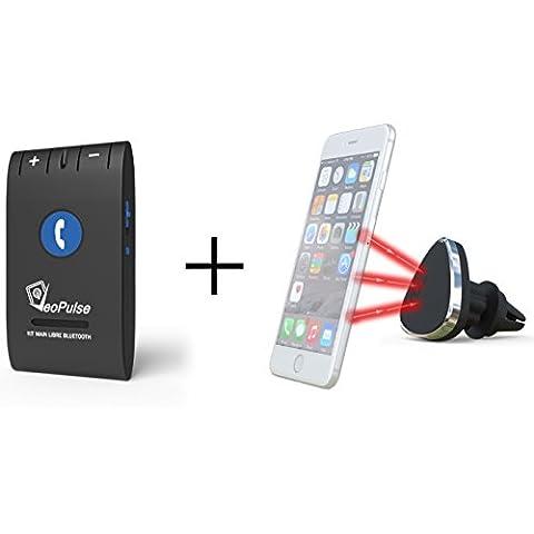 VeoPulse Kit main libre voiture Bluetooth 6E + support téléphone