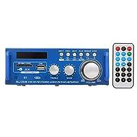 Mini Audio Power Amplifier,Phomnd 12V / 220V Mini Audio Power Amplifier BT Digital Audio Receiver AMP USB SD Slot MP3 Player FM Radio LCD Display with Remote Control Dual Channel 300W+300W