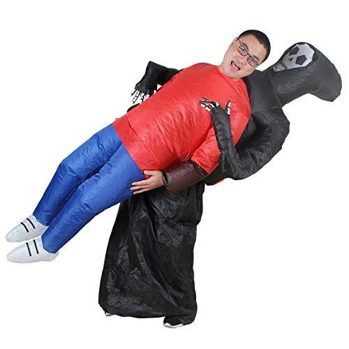 aufblasbares Sensenmann Oktoberfest Halloween gruselig Gruselige Skelett Tod Fancy Dress Blow Up Party Cosplay Kostüm Fasching Karneval