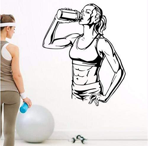 (Lvabc 47X58 Cm Gym Drink Aufkleber Fitness Muskel Aufkleber Bodybuilding Poster Vinyl Wandtattoos Dekor Wandbild Gym Aufkleber)