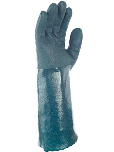 Paire de gants P.V.C. Tout enduit 40 cm. Double enduction. Singer PVC3045. Taille 9,5