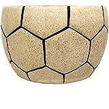 ShopMeFast Football Shape Handcrafted Ceramic Pots Ceramic Planter For Indoor Plants/Planters,Home Decor,Garden Decor,Office Decor,Decorative Succulent Pot (Color: Brown)(L:15 Cm, W:15 Cm, H:10 Cm)