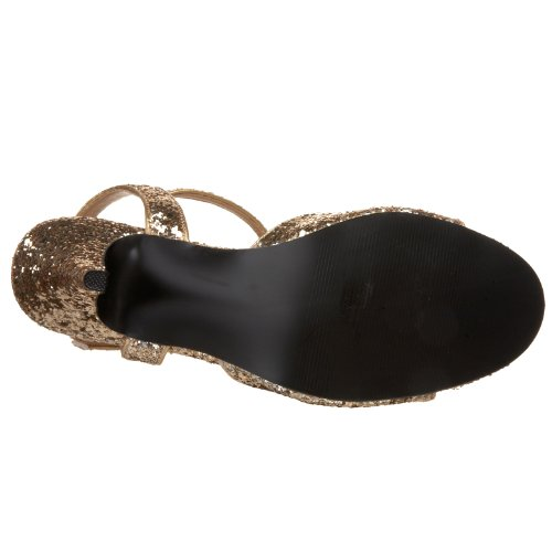 Bordello KITTEN-35G Sandaletten glitzer Gold Schwarz