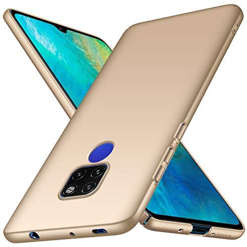 TopACE Hülle für Huawei Mate 20 Ultradünne Leichte Matte Handyhülle für Mate 20 Einfache Stoßfeste Kratzfeste Ganzkörper Hülle kompatibel mit Huawei Mate20 (Gold)