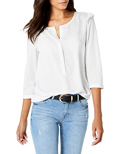 Street One Damen 340822 Bluse, Mehrfarbig (Off White 20108), 40