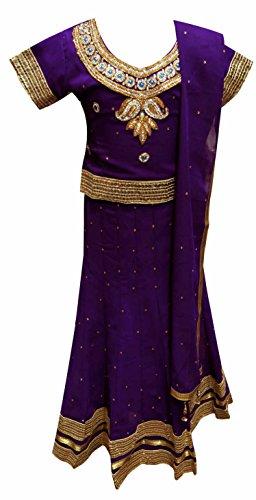 26 Kostüm Elf Größe (Kinder Indian LILA kinder mädchen Lehanga für hochzeit oder Bollywood thema partykleidung in London UK 1141 - Lila, 26 (5-6)