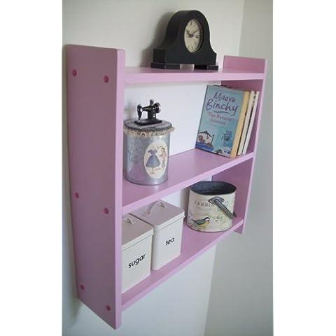60 cm, colore: rosa, per mensole da
