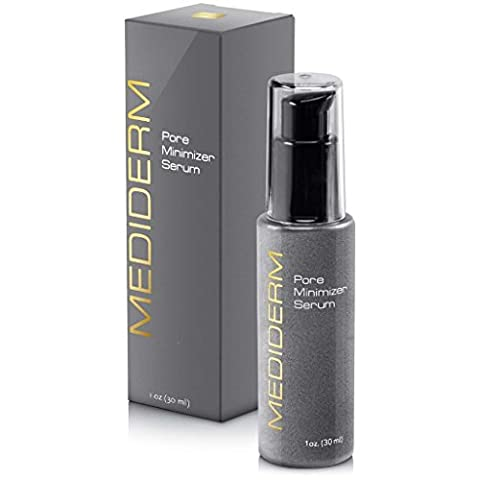 Mediderm Best Skin Tightening Pore Minimizer Serum For Women & Men - Powerful Natural Pore Shrinking Oil Free Treatment Gel Cream That Shuts Down Pores And Tightens Loose Skin Almost Instantly