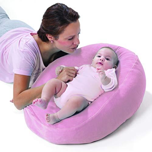 Nuvita 7104 copertura nido per cuscino allattamento dreamwizard nuvita 7100 - custodia pop up per convertire il cuscino gravidanza in comodo letto per bambino - lavatrice a 40°- marchio europeo(rosa)