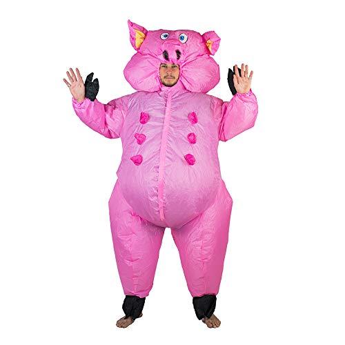Costume gonfiabile da maiale, per adulti