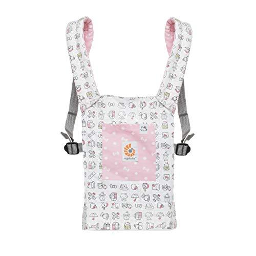 ERGObaby Puppentrage Kinder-Spielzeug, Hello Kitty Rosa Tragetasche für Baby Puppe, Puppentragetasche aus 100% Baumwolle (Hello Kitty-geschenke Für Kinder)