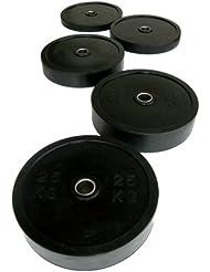 Grupo Contact - Discos de Crossfit Negro de 25 kg