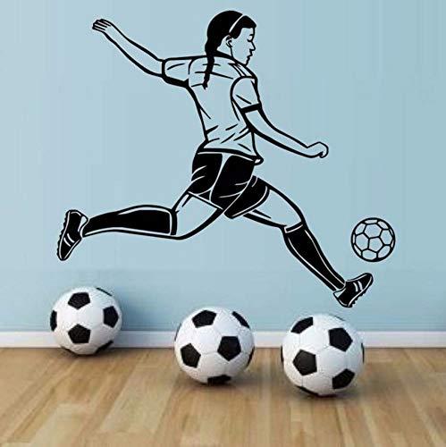 (Lvabc Leidenschaft Spieler FußballHohe Wasserdichte Tapete Wandbild Fußball Spieler Wandaufkleber Für Mädchen Schlafzimmer Wände Dekor 50X44 Cm)