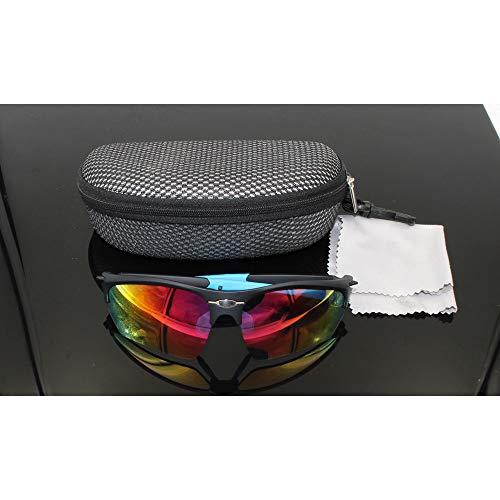 Chengleilei Schutzbrille Motorrad reiten Bergsteigen Brille Sonnenbrille (Farbe : Schwarz Blau)