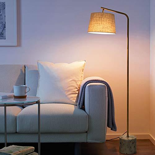 Lampadaires- Lampadaire Moderne Rétro Lampadaire Pour Salon Chambre Etude Et Bureau Lampe Standard Réglable (Couleur : A (Linen))