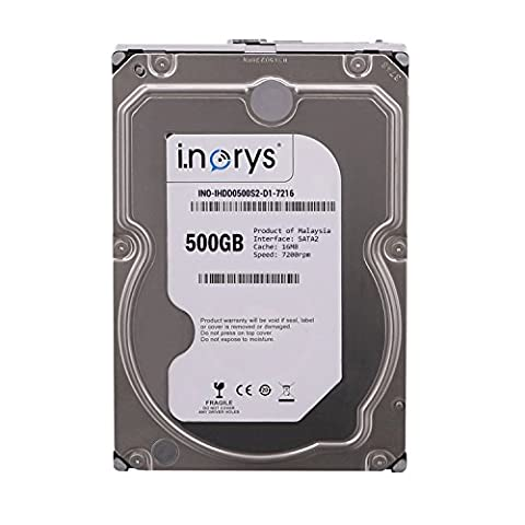 i.norys interne Festplate 500GB 3,5' (8,9 cm) SATA2 Desktop PC HDD 7200RPM, 16MB Cache