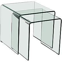 Beistelltisch glas chrom eckig  Suchergebnis auf Amazon.de für: 2 glas beistelltische