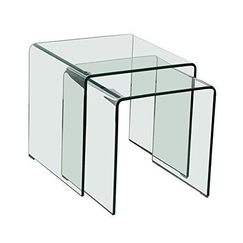 36 Küchentisch (Glastisch 2tlg ausziehbar Wohn Ess Zimmer Küche Glas Tisch TV Beistelltisch B154076)