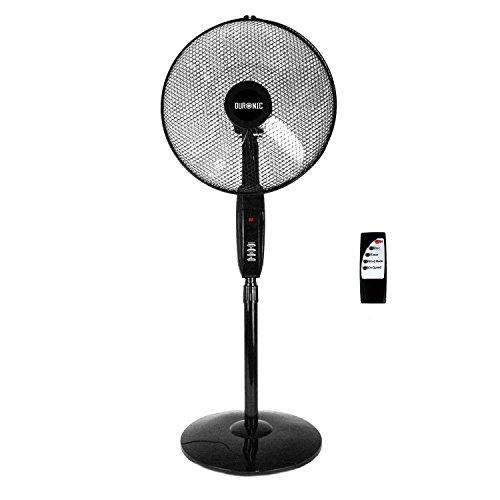 Duronic FN60 Ventilador de Pedestal Oscilante / Minutero Integrado /...