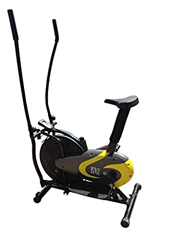 Olympic ES-9200 2-in-1 Cross Trainer and Exercise Bike - Yellow