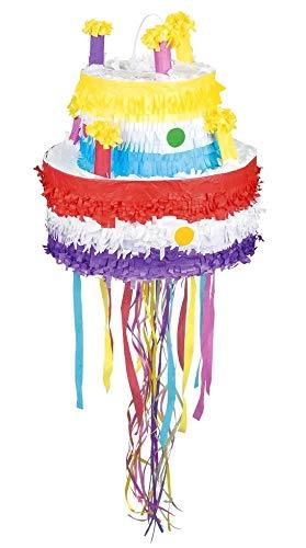 (Boland 30937 Pinata Geburtstagskuchen, Mehrfarbig)