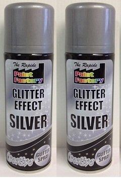suas-international-2-x-200-ml-the-rapide-paint-factory-glitter-effect-silver-creative-glitter-spray