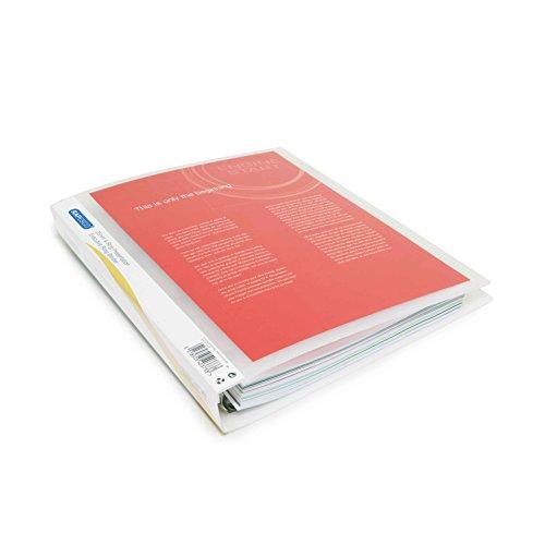 Präsentationsordner DIN A4 (25mm,10 Stück pro Verpackung) transparente Farben (4-ring A4 Binder)