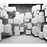 murando - Fototapete 350x256 cm - Vlies Tapete - Moderne Wanddeko - Design Tapete - Wandtapete - Wand Dekoration - Abstrakt Beton 3D a-A-0132-a-a