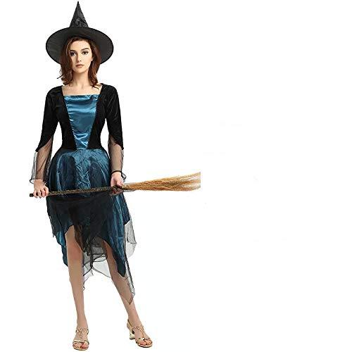 thematys Hexenkleid Hexen Kostüm-Set für Damen - perfekt für Fasching, Karneval & Halloween - Einheitsgröße ()